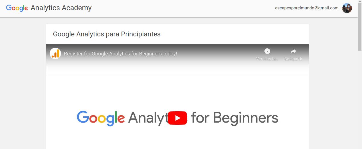 google analytics academia curso gratis