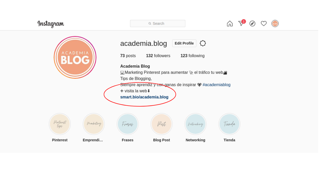 smartbio tailwind app instagram perfil academiablog
