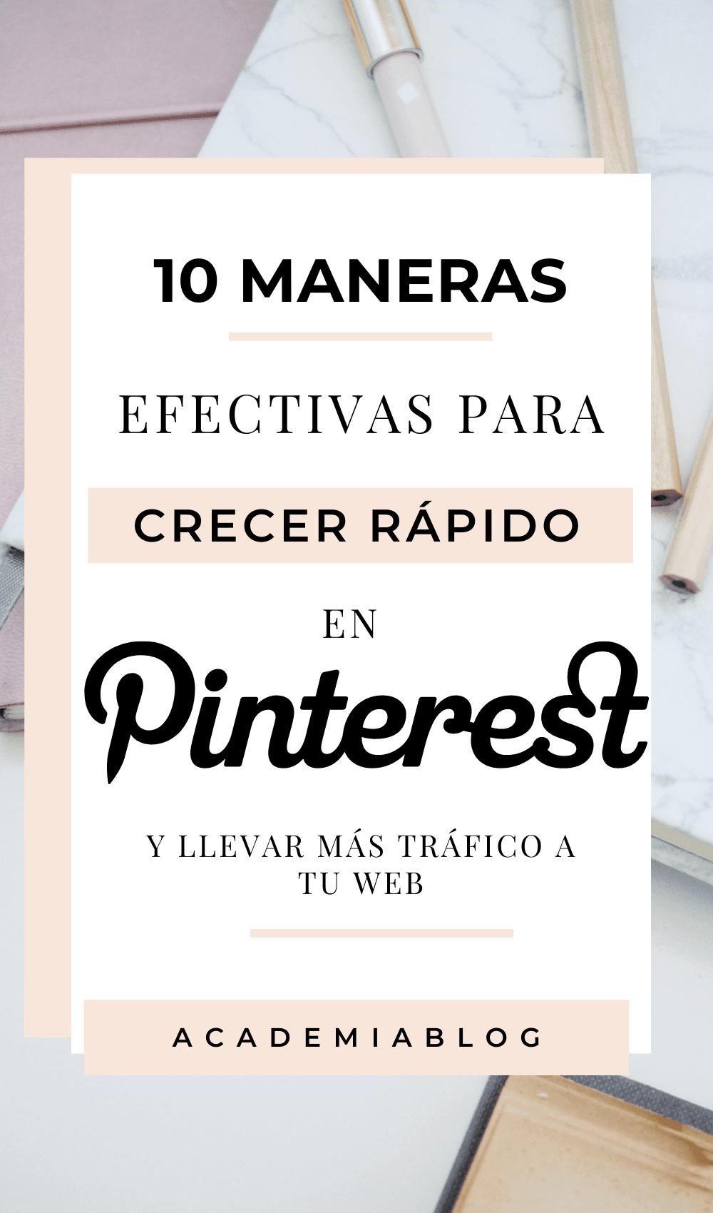 10 maneras para crecer en Pinterest