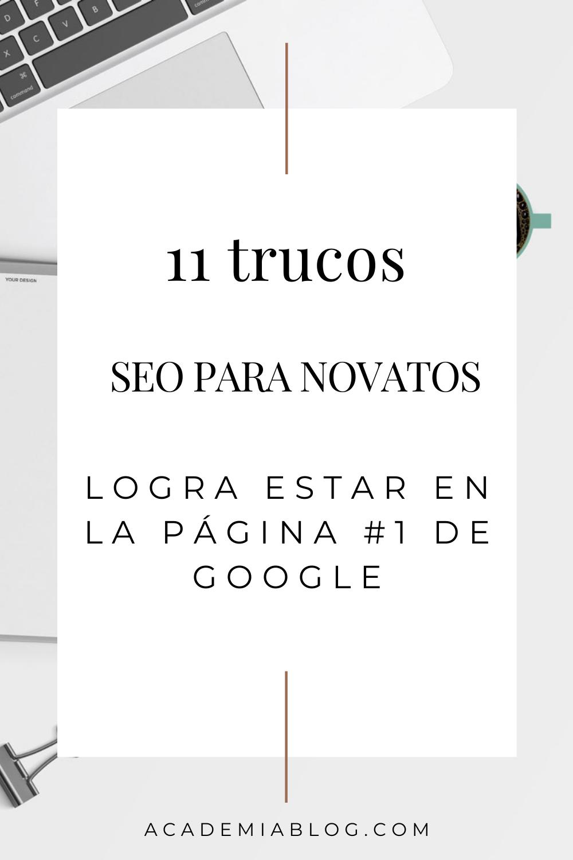 trucos SEO para novatos y lograr el puesto 1 en google