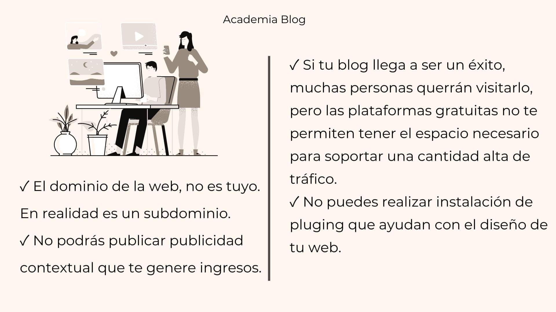 Lista de razones por las que NO debes abrir tu blog gratis