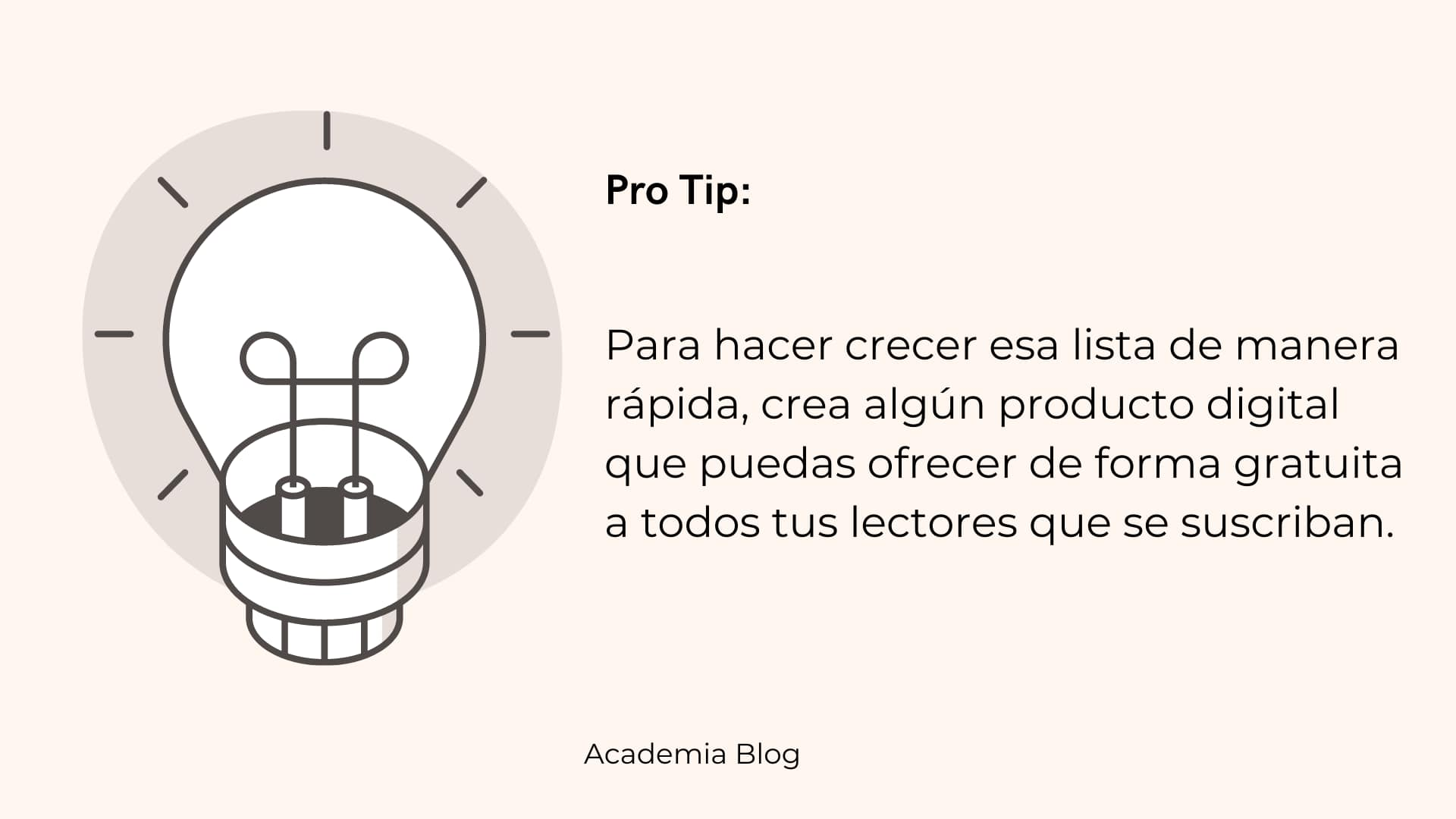 Pro tip para crear tu lista