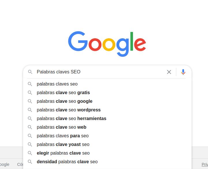 barra de busqueda google
